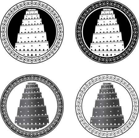 Set of towers of babel. vector illustration  Çizim