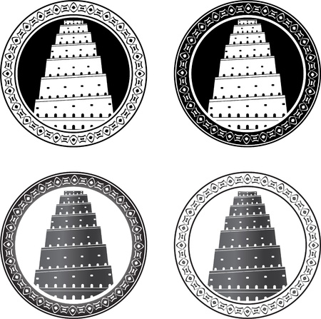 Set of towers of babel. vector illustration