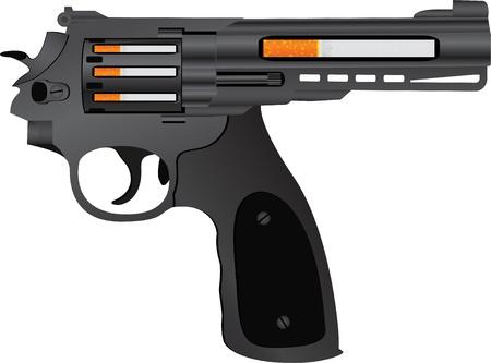 cigarettes pistol  second variant  vector illustration Stock Vector - 20233125