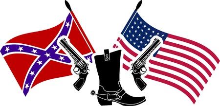variant: american civil war  stencil  fifth variant  illustration  Illustration