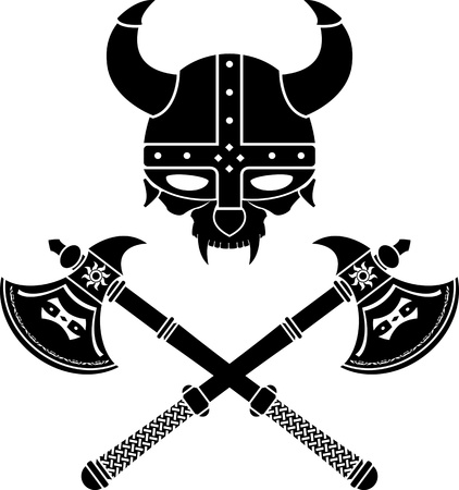 fantasy viking helmet  third variant  illustration  Vector