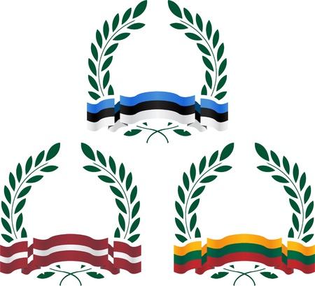 glory: glory of Baltic states  illustration Illustration