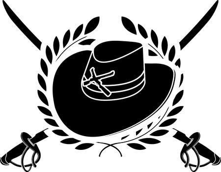 american cavalry  stencil  second variant  vector illustration