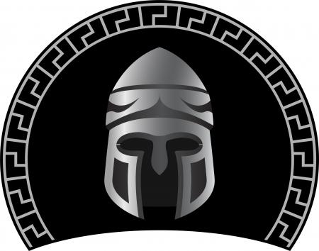 cascos romanos: casco medieval variante segunda ilustración vectorial