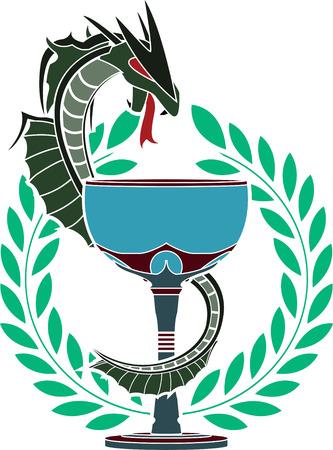 glory of pharmacy  stencil  illustration Stock Vector - 23021982