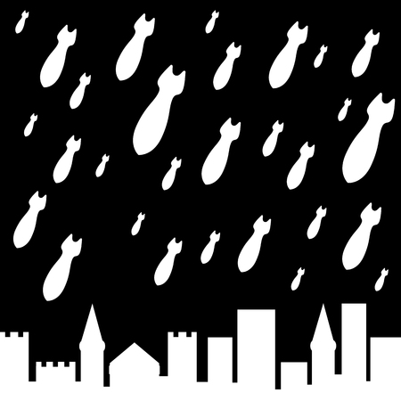 military rain  illustration  Vector