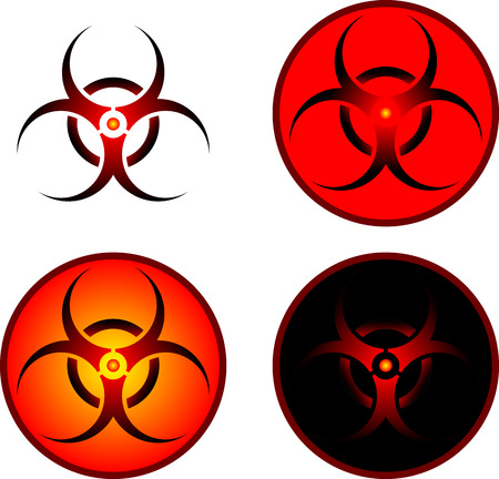 signs of bio hazard  illustration  Stock Vector - 23022039