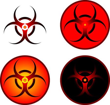 bio hazard: signs of bio hazard  illustration