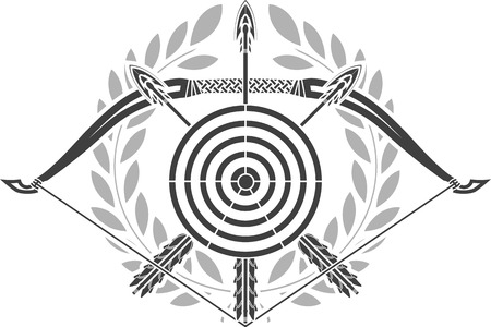 arrowheads: glory of archery  stencil  illustration Illustration