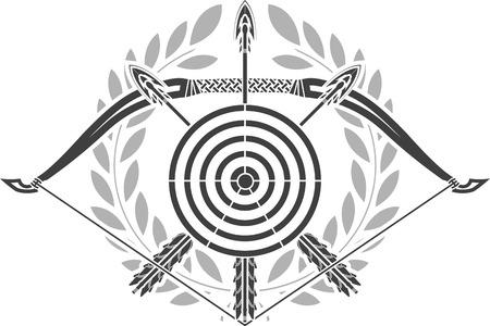 glory: glory of archery  stencil  illustration Illustration