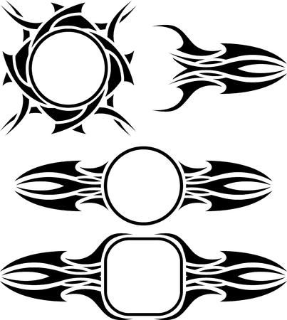variant: set of frames  stencils  second variant  illustration