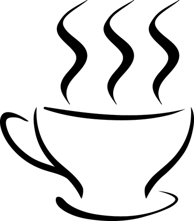 cup of coffee  stencil illustration  Vector
