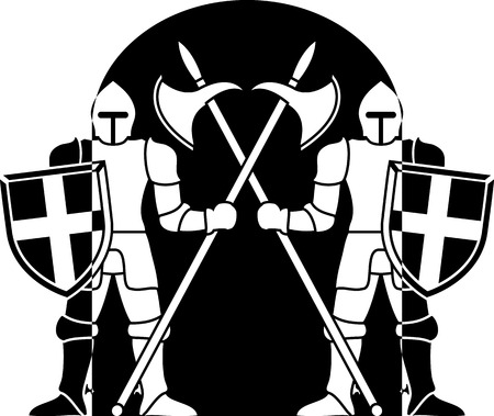 crusader: guardians  vector illustration Illustration