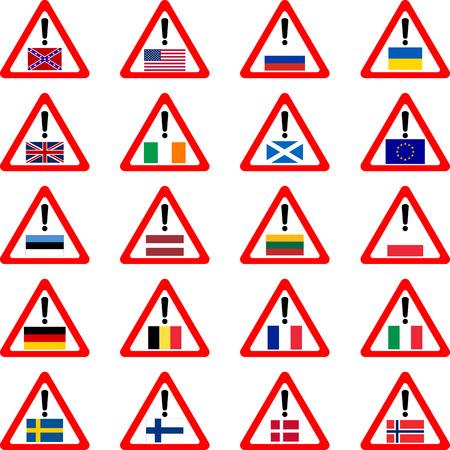 scotland flag: warning sins for travelers  vector illustration  Illustration