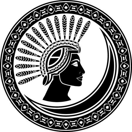 priestess: priestess  black and white variant  illustration