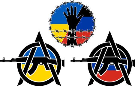 prisoner of war: war in ukraine  vector illustration