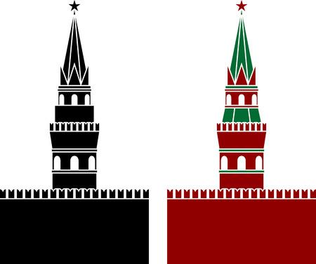 palacio ruso: ejemplo ruso de la torre de la plantilla