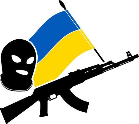 ukrainian civil war  kye illustration
