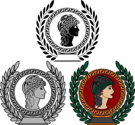 Glory of ancient greek woman   Illustration