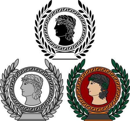 great success: Glory of ancient greek man   Illustration