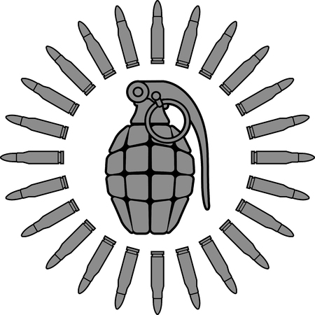 detonating: military sun  vector illustration