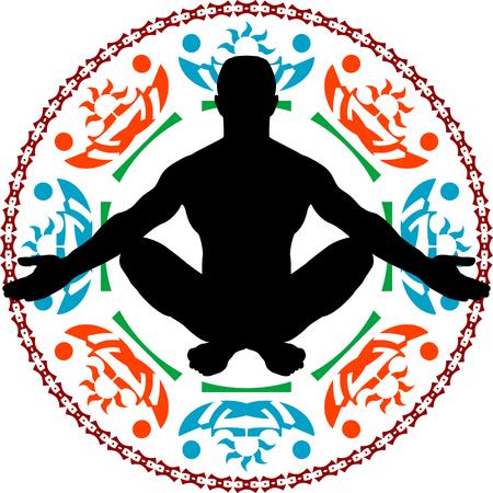 meditation. vector illustration Illustration