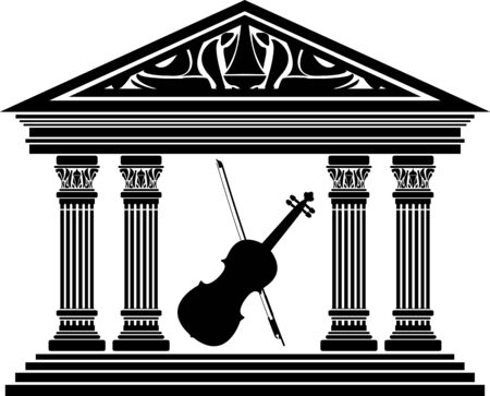 greco roman  roman: concert hall. vector illustration