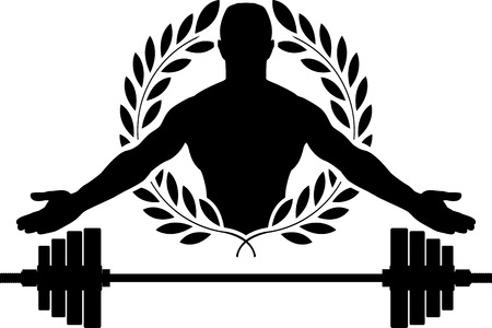 weightlifting equipment: glory of bodybuilding. vector illustration Illustration