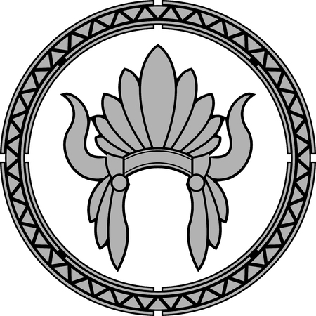 native indian: Tocado de indio nativo americano. segunda variante. ilustraci�n vectorial Vectores