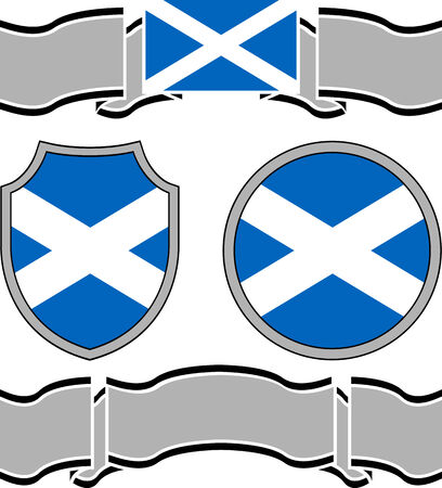 Flag of scotland with banners. vector illustration Vectores
