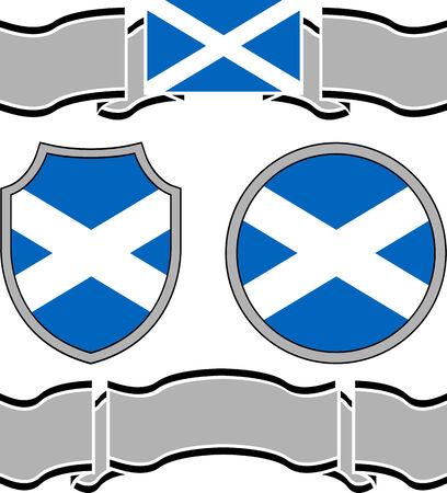 scotland flag: Flag of scotland with banners. vector illustration Illustration