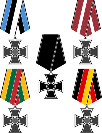 lithuanian: Set of orders. vector illustration