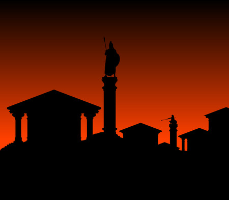 ancient city. vector illustration Vector
