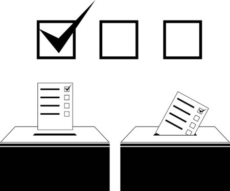 voting paper: voting. vector illustration