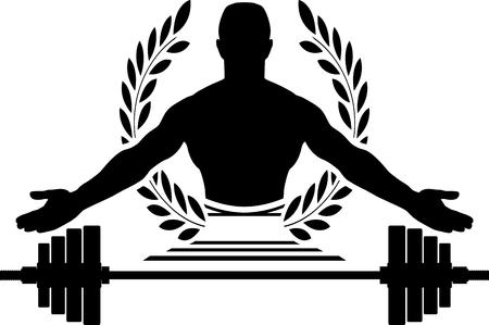 barre: glory of bodybuilding. second variant. illustration Illustration