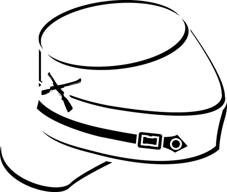 kepi: American civil war kepi sketch illustration Illustration