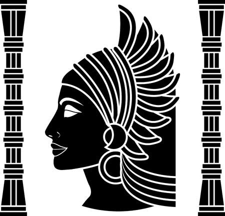 cleopatra: ancient eastern woman. vector illustration Illustration