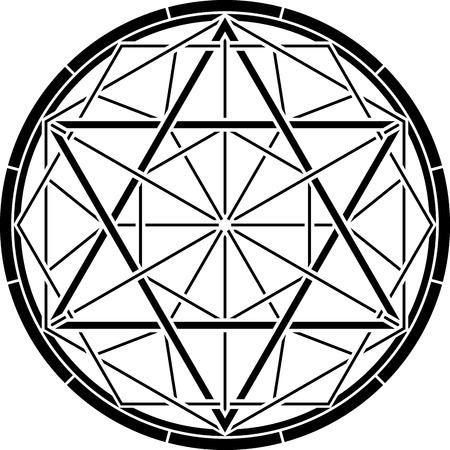stencil of magic hexagram. vector illustration Vector