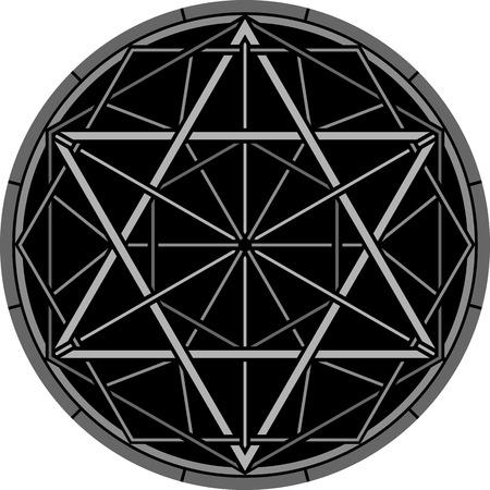 hexagram: magic hexagram. vector illustration Illustration