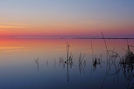 afterglow: afterglow in Estonia. Haapsalu city