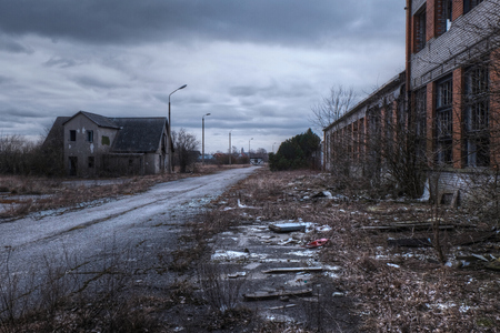 post-apocalyptic view in haapsalu city, estonia Stock Photo