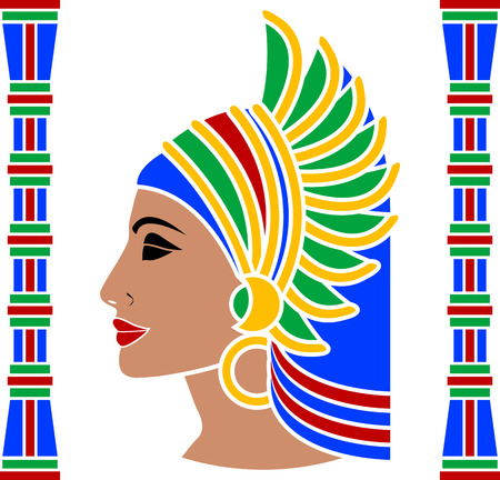 ancient egyptian culture: ancient eastern woman. vector illustration Illustration