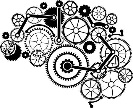 gear brain. vector illustration