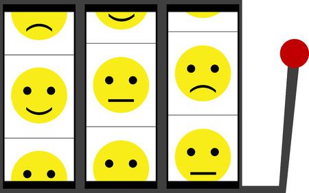 slot: Slot machine for mood. vector illustration Illustration