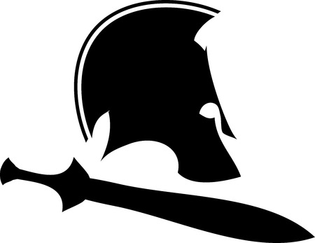 ancient helmet with sword 1. raster version