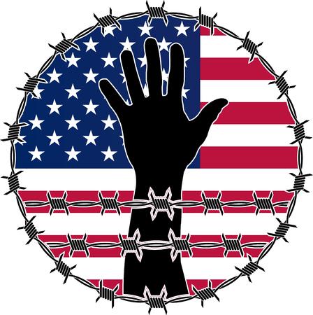violation: violación de los derechos humanos en EE.UU.. variante de la trama Foto de archivo