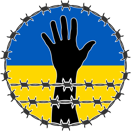 violation of human rights in ukraine. raster version