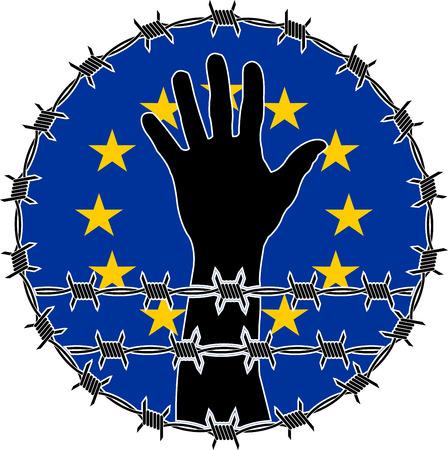 violaci�n: violaci�n de los derechos humanos en la UE. variante de la trama