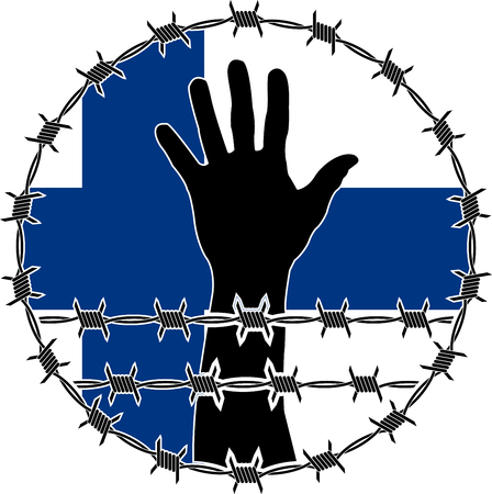 victim war: violation of human rights in Finland. raster variant