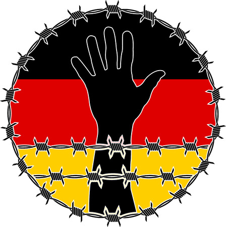 human rights: violation of human rights in Germany. raster variant